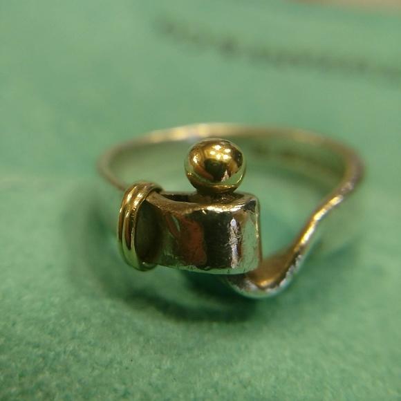 124ea620f Tiffany & Co. Jewelry   Vintage Tiffany Co 18k 925 Hitch Ring   Poshmark